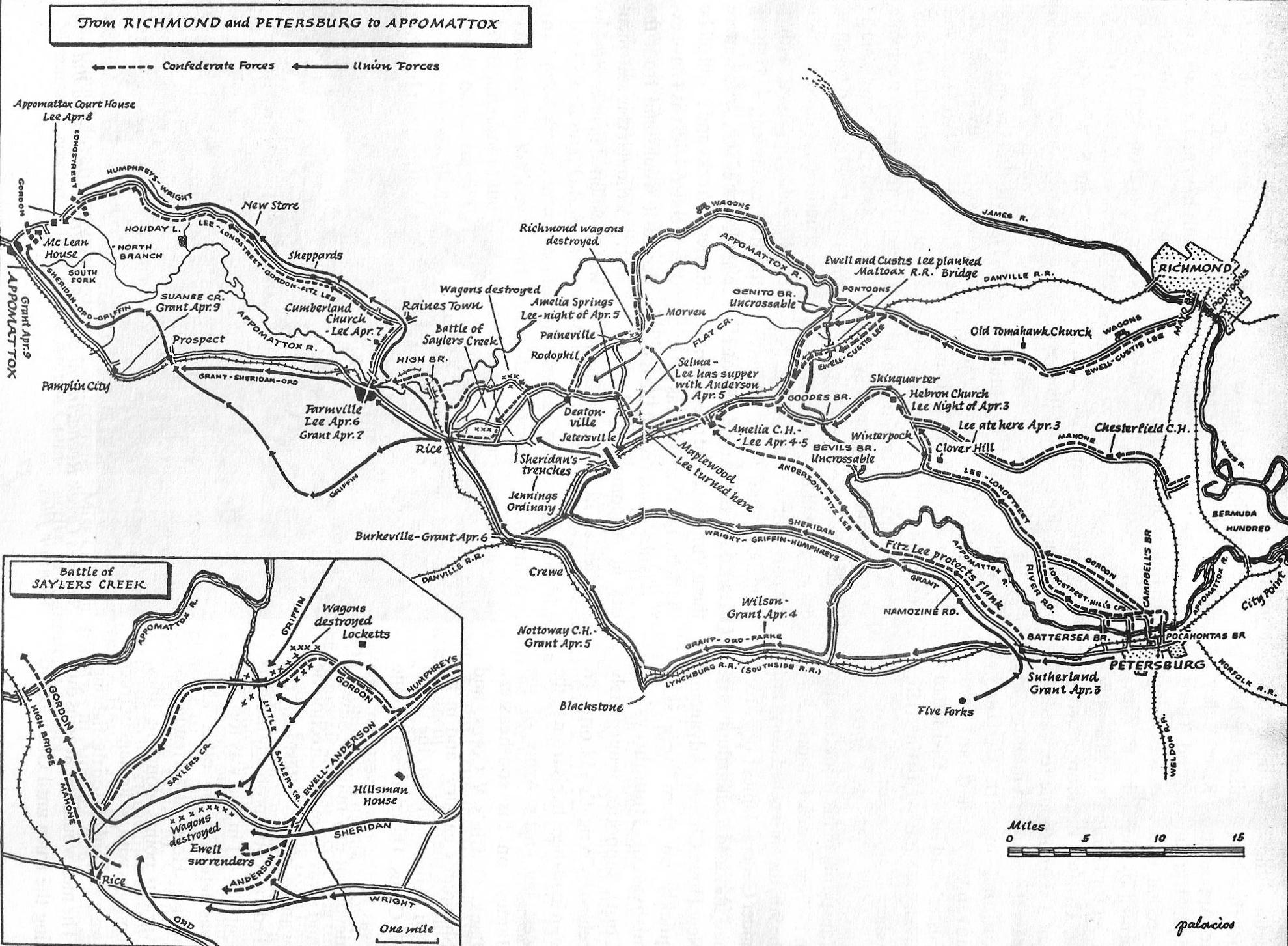 Map Petg to Appomattox